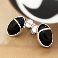 Onyx Silber 925 Ohrringe Damen Schmuck Sterlingsilber S0212