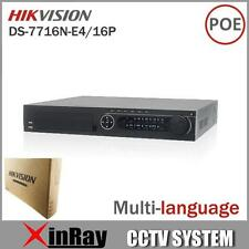 Hikvision ds-7716n-e4/16p Redes 16ch NVR with 16 POE Interfaz IP Cámara nvr