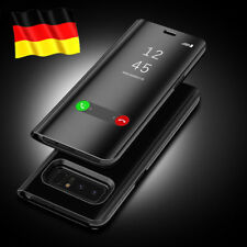 Schutz Hülle Für Galaxy S8 S9 Plus Handy Tasche Flip Clear View Case Cover DECC