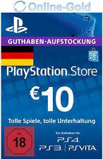 PSN Network 10 Euro Code €10 EUR PlayStation Store Guthaben PS3 PS4 PS Vita - DE