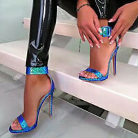Damen Sandaletten Riemchen Pumps Sandalen Stiletto High Heels Sommer Schuhe