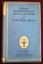 RALPH WALDO EMERSON  ESSAYS,REPRESENTATIVE MEN ETC AND POEMS (COLLINS CL 1954)