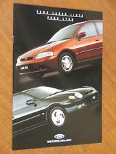 1994 Ford Laser Liata & Lynx original 12 page brochure plus Paint & Specs