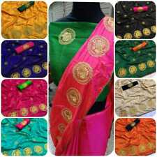 wedding indian saree paper silk embroidery with banglori blouse