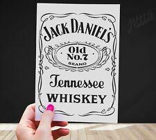 Jack Daniels Stencil - A4 Reusable Mylar