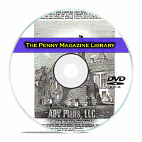 The American Penny Magazine, 884 Vintage Issues, Useful Knowledge, PDF DVD E95