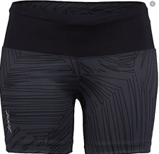 New listing ZOOT - Women's Run Moonlight 5 inch Run short - Black/Black Palm - EXTRA LARGE