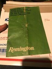 Remmington 870 Pump Action Shotgun 12, 20, ga. 28, 410, 20 ga. LW Owners Manual