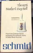 The 1976 Mother's Day Bell. Limited Edition, Schmid Bros. 1st In Collectors Seri