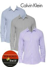 100% Genuine Calvin Klein Men's STEEL Slim-Fit AU Seller Easy Iron Dress Shirt