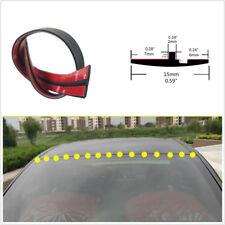 10ft/3M Black DIY T-Type Rubber Seal Car Windshield Edge Protector Sealing Strip