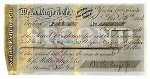 1858 Yreka, California Wells Fargo Bill of exchange