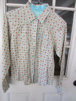 Ladies Wrangler 20X Ultra Fit cotton western pearl snap l/s shirt size M