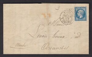 France 1863 Tailbouis Co Hosiery Gloves printed entire letter to Avranches