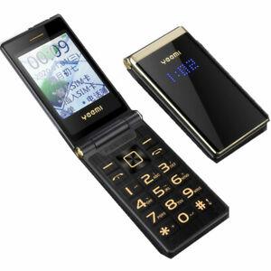 "Unlocked Flip M2+ Touch Big Screen 2.8"" Display Dual Sim Metal Body Cell Phone"