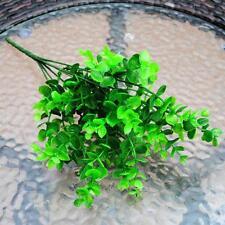 7-Branches Artificial Plastic Eucalyptus Plant Flowers Lucky Leaf Decor @Keku
