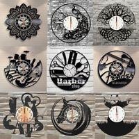 3D Silencieux Horloge Murale Vinyle Quartz Aiguille Décoration Maison Chambre
