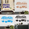 Vinyl ''Kitchen '' Wall Decal Rules Room Decor Art Quote Stickers Removable DIY