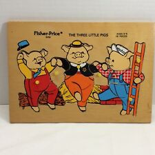 Fisher Price Kids Vintage Wooden Puzzles For Sale Ebay