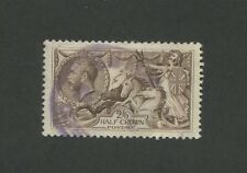 1919 Great Britain Stamp #179 2sh6p Used Very Fine Faded Purple Postal Cancel