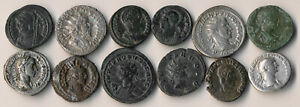 12 ANCIENT ROMAN COINS (MUCH BETTER LOT > WORTH UR TIME TO VIEW !!) NO RESERVE
