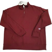Champion Men's Maroon Powerblend Fleece 1/4 Zip Pullover Size XL -NWOT