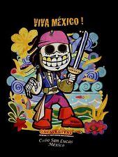 Javi Molner CALAVERITAS Graphic T shirt.Vivid DAY of the DEAD PIRATE. MENS LARGE