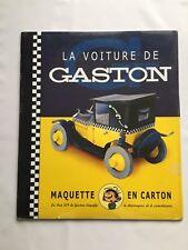 GASTON MAQUETTE AROUTCHEFF VOITURE CARTON - FIAT 509 - FRANQUIN - TAXI