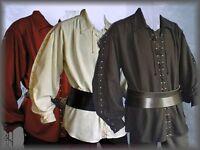 Medieval Pirate Lace Up Shirt Cotton Larp SCA Reenactment Vintage Paladin