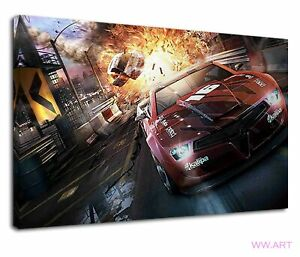 Incredible Racing Scenes Of Need For Speed Canvas Wall Art Picture Print