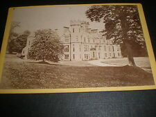 Old cabinet photograph manor house by Miller at Turiff c1870s