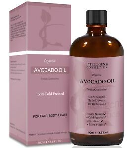 Organic Avocado Oil Cold Pressed Extra Virgin Unrefined Pure & Natural 100ml