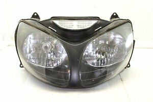 00 01 KAWASAKI NINJA ZX12R FRONT HEADLIGHT HEAD LIGHT LAMP - GOOD TABS - OEM