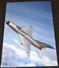 Combat Aircraft Vietnam VPAF MiG-21  Large Postcard
