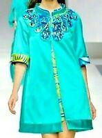 Emilio Pucci Jewel Embellished Embroidered Runway Dress Jacket US 8 10 IT 44 46