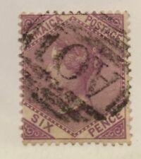 Jamaica Scott 11 Queen Victoria Six Pence Used