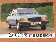1980 PEUGEOT 305 Sales Brochure - GL, GR, GRD, SR