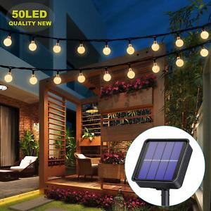 24 Ft Luces De Cadena Solar Interiores y Exteriores Para Jardin Patio Decoracion