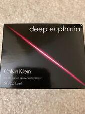 Calvin Klein DEEP EUPHORIA Eau De Parfum Spray 0.5 Oz./15ml *NEW IN BOX*