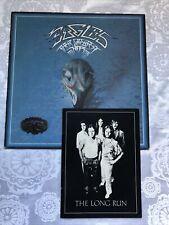 Collectors Item Memorabilia Vinyl The Eagles Tour book metal badge The Long Run