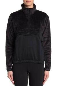 Adidas Sweatshirt Fleece Sherpa Detail 1/4 Zip Pullover Athletic Women S M L XL