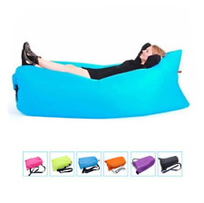 Lazy Lounger Inflatable Air Bed Sofa Lay Sack Hangout Camping Beach Bean Bag bl