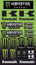 Monster Energy Drink kx  Logo Sticker Sheet 21 STICKERS  Decal bmx motox scooter