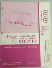 JUKEBOX MANUAL ROWE AMI MODEL CFA-CFD WALL BOX STEPPER INSTALL PARTS CATALOG