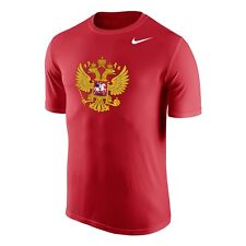 2018 Team Russia IIFH WJC Dri-Fit Legends Short Sleeves Red T Shirt Large