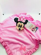 Disney Minnie Mouse Blankee Security Blanket Baby Lovey Pink Girl Shower