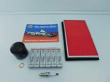 FITS NISSAN ELGRAND E50 3.5i 2000- 2002 OIL& AIR FILTER & PLATINUM SPARK PLUGS