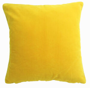 Mb68a Yellow Plain Flat Velvet Style Cushion Cover/Pillow Case *Custom Size*