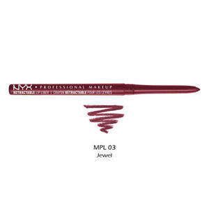 NYX  Waterproof Retractable Lip Liner MPL03 Jewel ( Burgundy with silver )