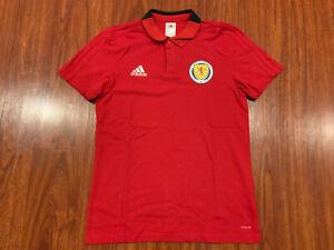 2018-19 Adidas Men's Scotland Soccer Player Issue Polo Jersey Shirt Medium M